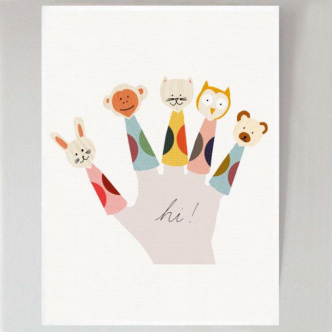 Finger Puppets Poster- Francesca Iannaccone
