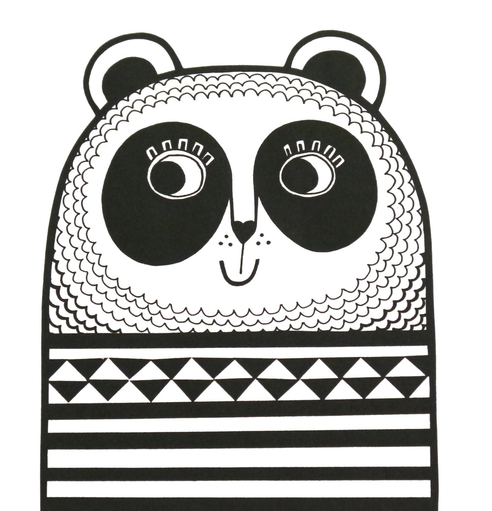 Jane Foster Panda Screenprint