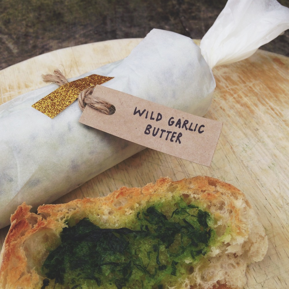 Wild Garlic Butter and Garlic Bread