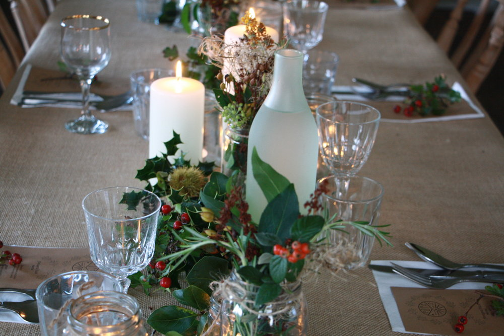 christmas foraging and feast party in Dorset