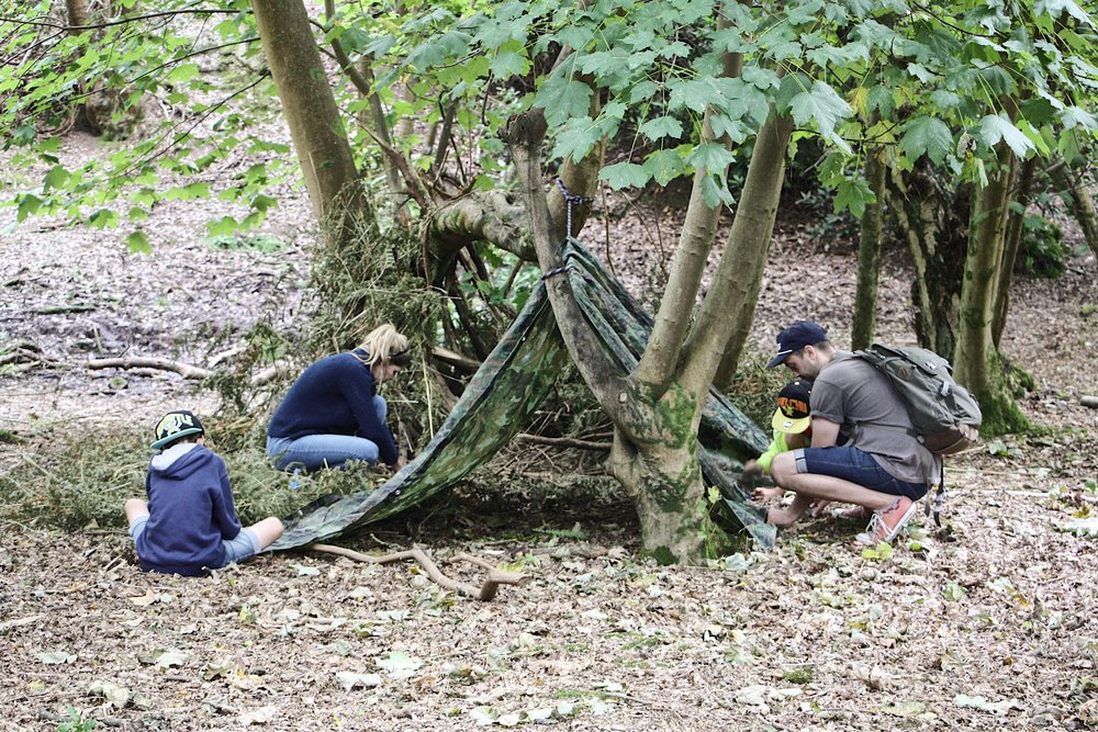 family bushcraft in dorset