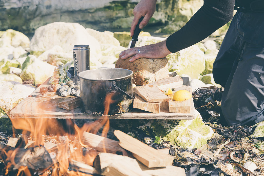 outdoor cooking over fire