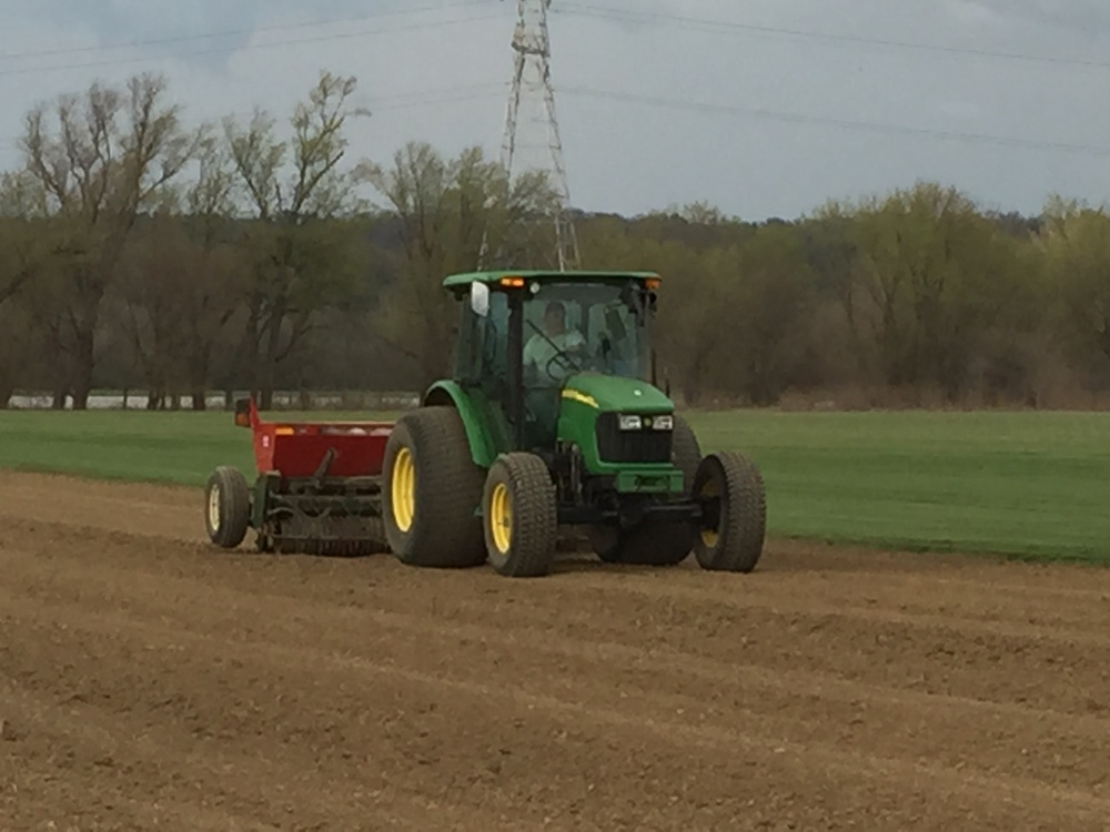 Field being planted