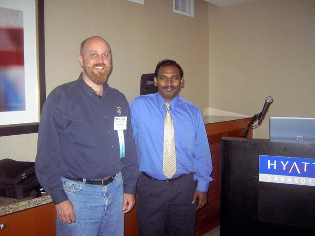 Speakers, Ed Carter of SJWMD and Capton of Cambridge Systems.jpg
