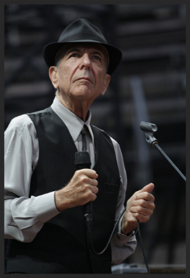Leonard Cohen, photo by gaët