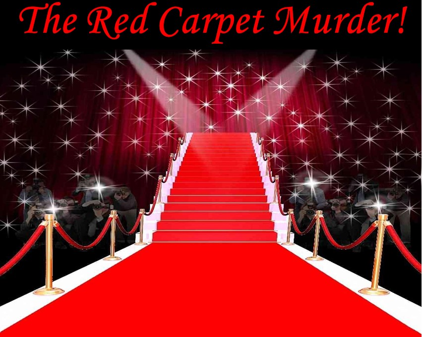 Murder mystery dinner party game red carpet award ceremony murder