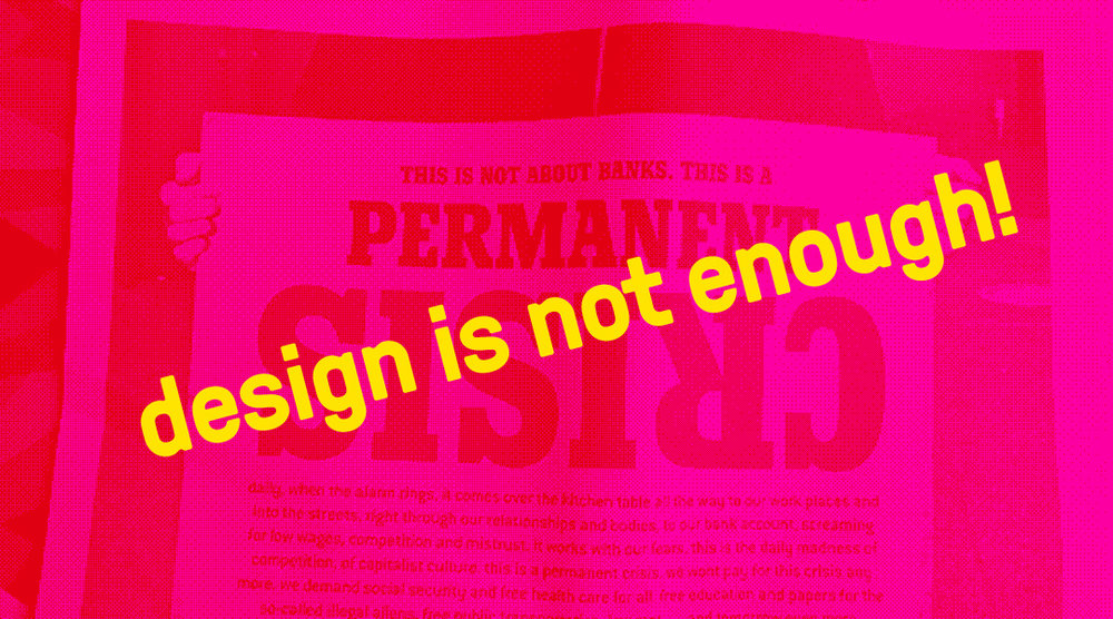 Permanent Crisis poster by Sandy Kaltenborn/Image-Shift for Occuprint.
