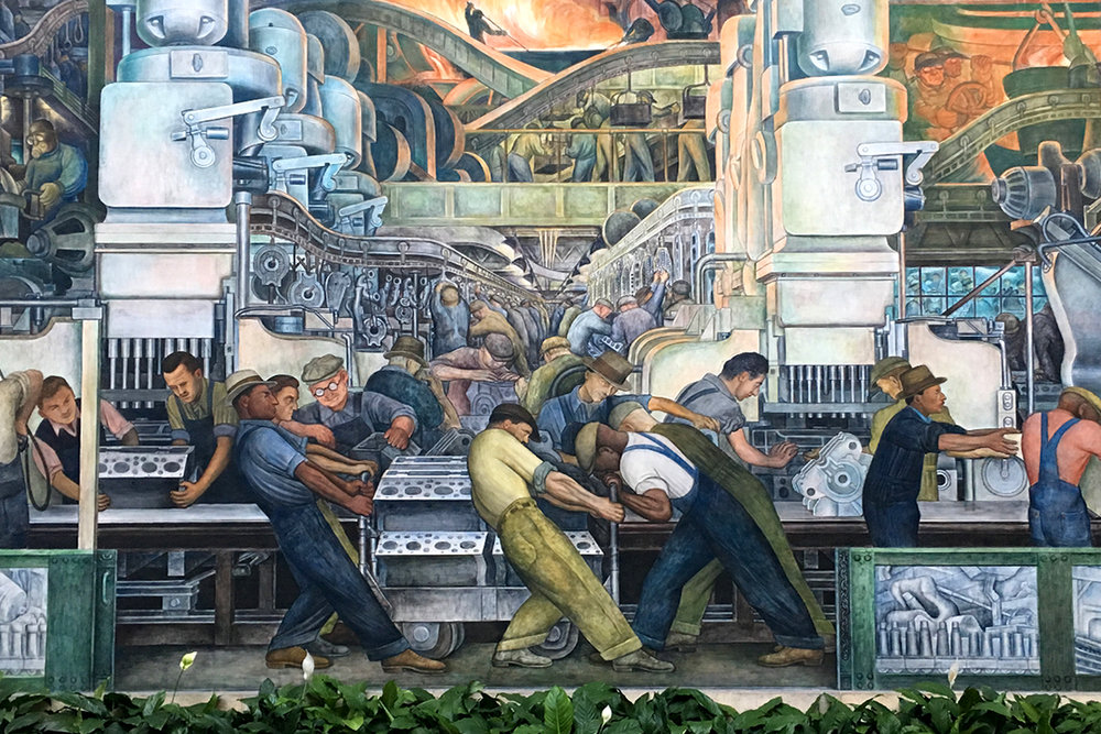 Diego Rivera,  Detroit Industry  mural, 1932-33