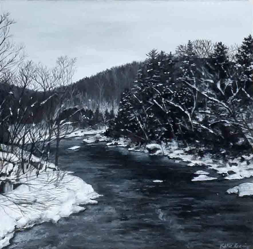 Mountain River Snow