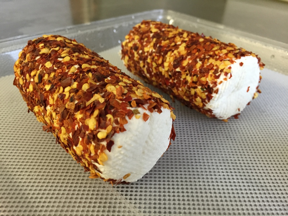 Chèvre - crushed red pepper roll