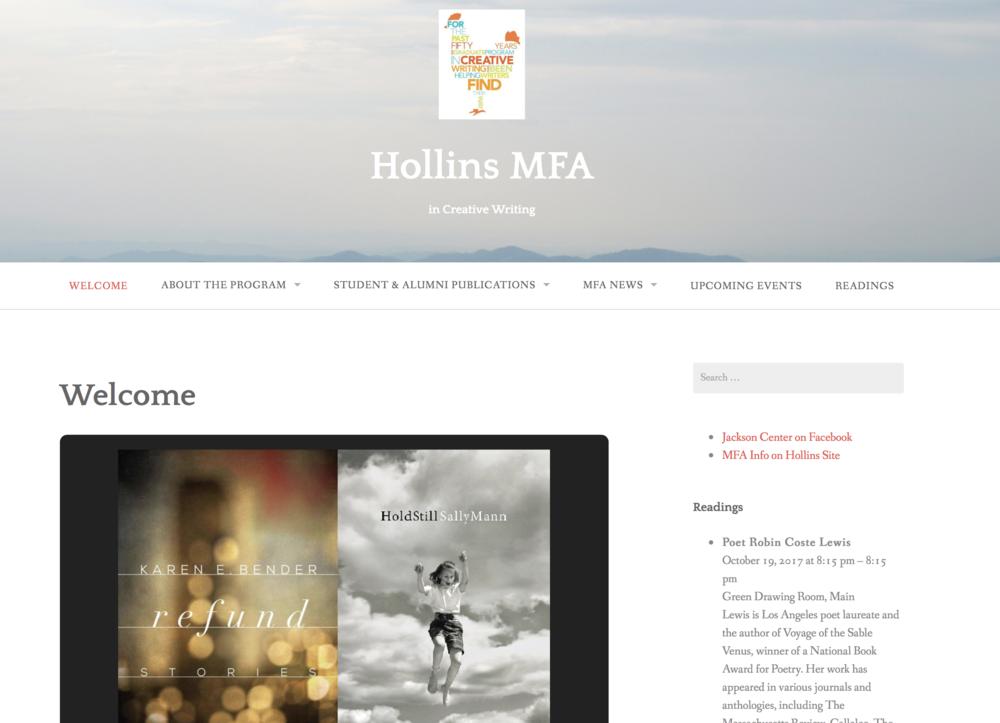 Hollins MFA home