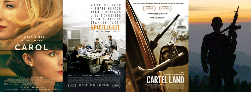 TEC Alums at the Oscars!  Carol,Spotlight & Cartel Land  Read More