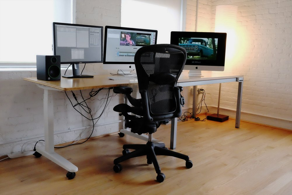 One of our six edit rooms