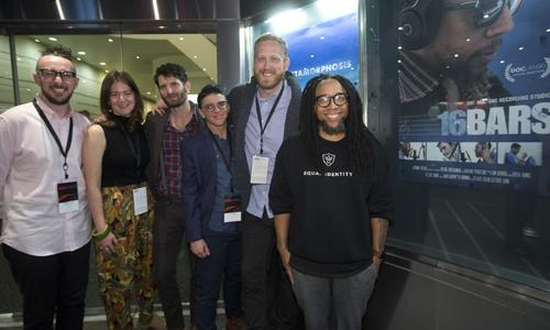 Third from Right: Editor Al Shurman Far Left: AE Sammy Dane
