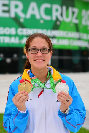 LAKE WALES, FL – November, 2014: Kamilah Dammers from Aruba recently broke  the singles record while competing in the Central American Games.