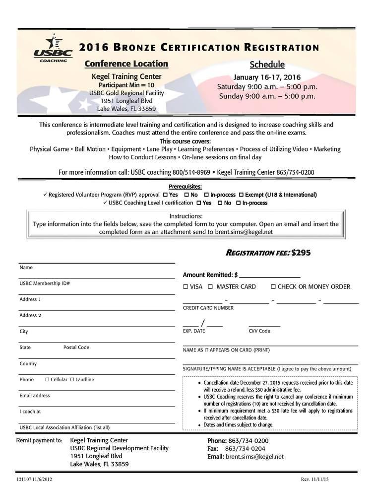 Usbc Bronze Coaching Certification Ktc Kegel Training Center
