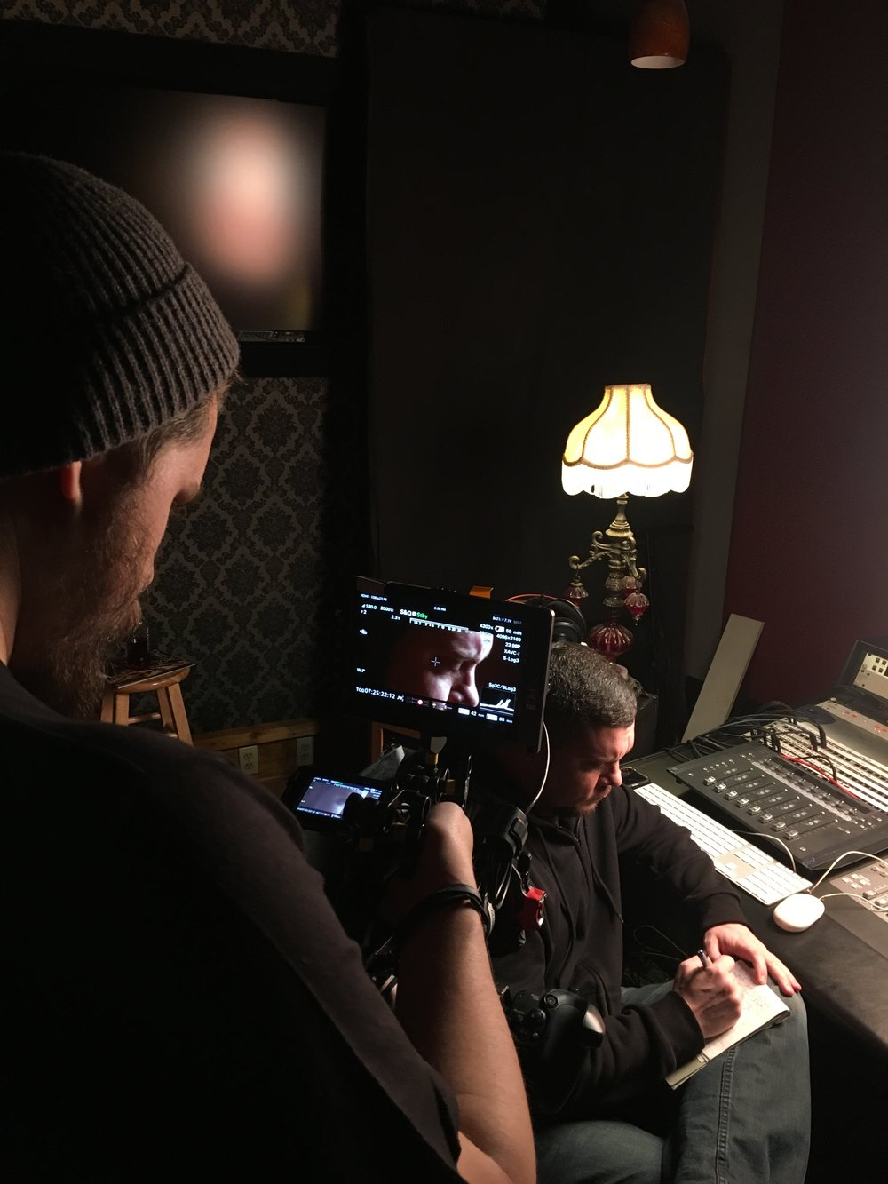 "Filming Chimaira Vocalist Mark Hunter for ""Down Again"""