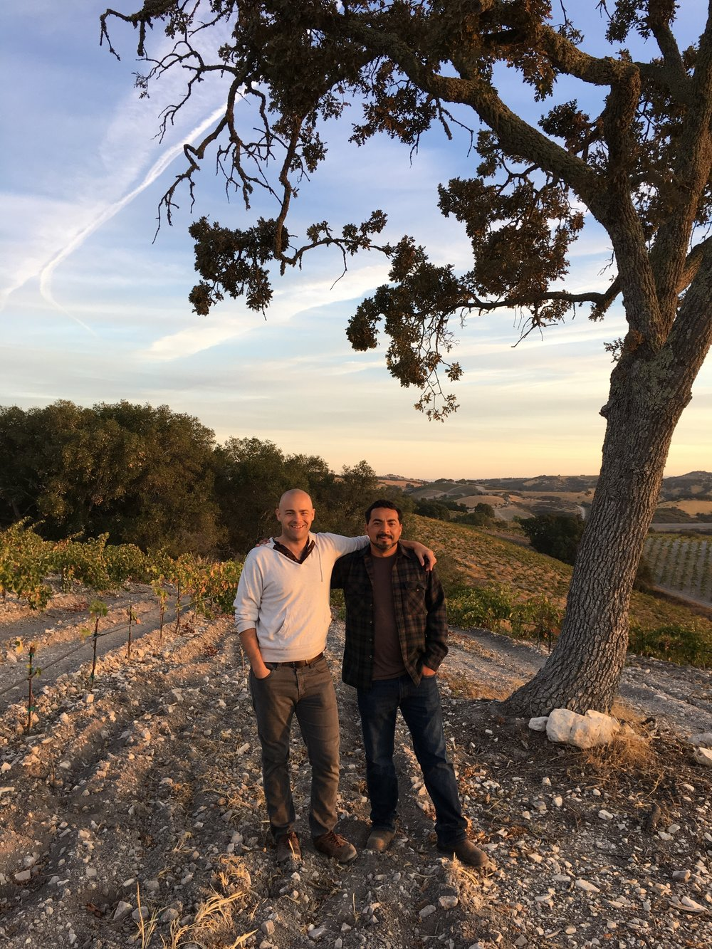 Edgar Torres and myself. Edgar came here with nothing from Mexico, and built a successful wine brand out of good old fashioned sweat equity.