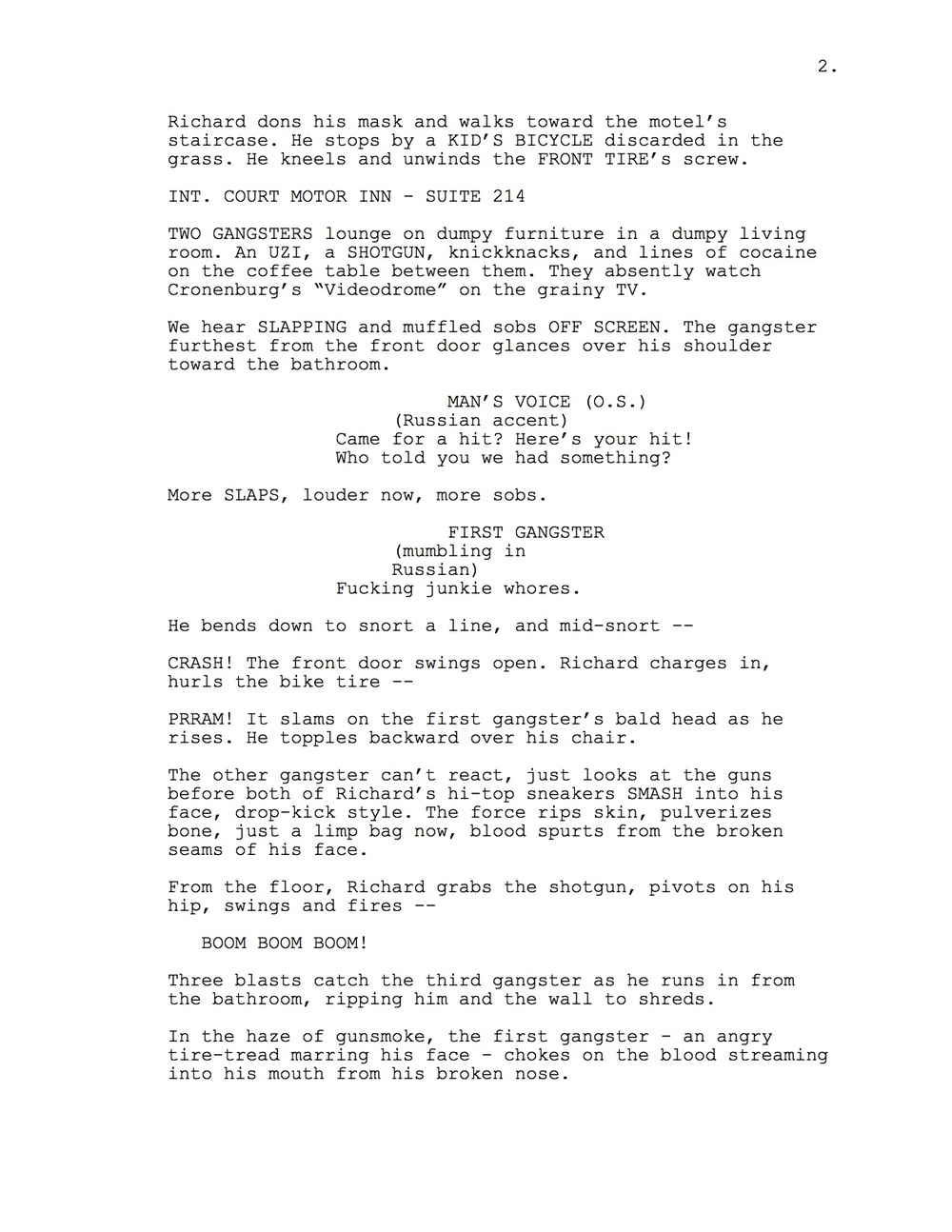 Hotline Miami Screenplay  Joseph AsphahaniS Portfolio