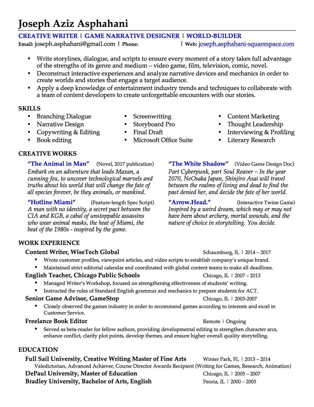 Joseph Asphahani - Game Portfolio Site Resume.jpg