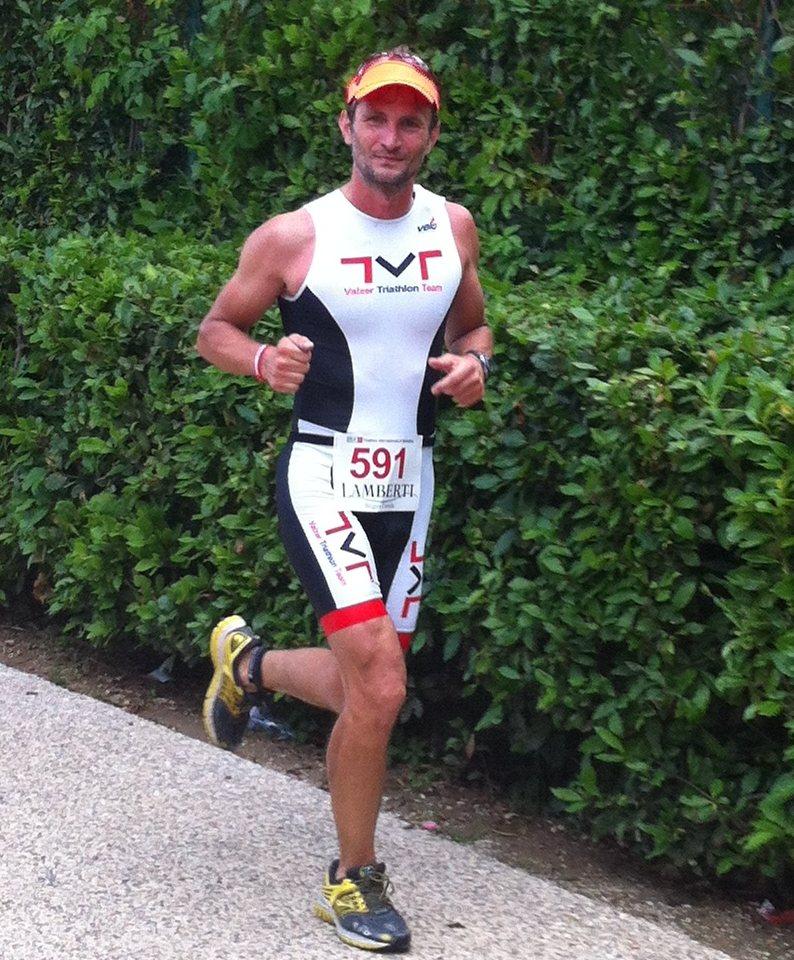Paolo in azione al Triathlon Olimpico di Bardolino