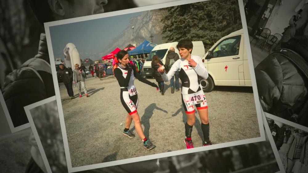 Vittoria, con Giulia, al suo esordio al Duathlon Sprint di Lecco