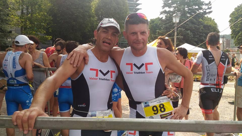 Donato insieme al nostro Romeo al Triathlon Sprint di Lecco