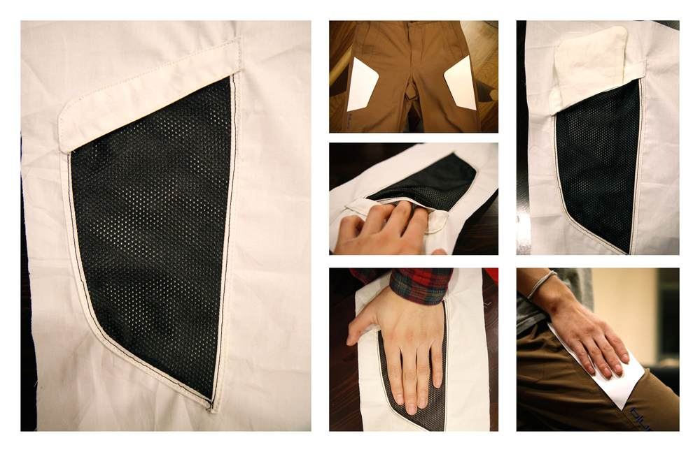 Series of photos showing initial sewn concept.
