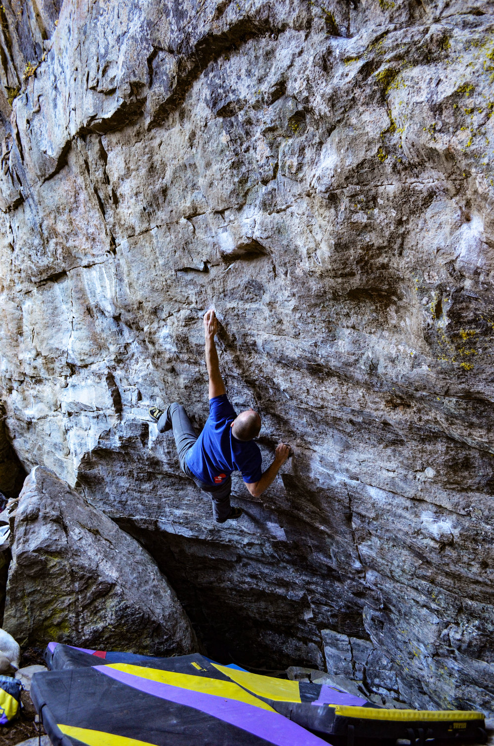 Andy White climbs Driven Stand (V9)