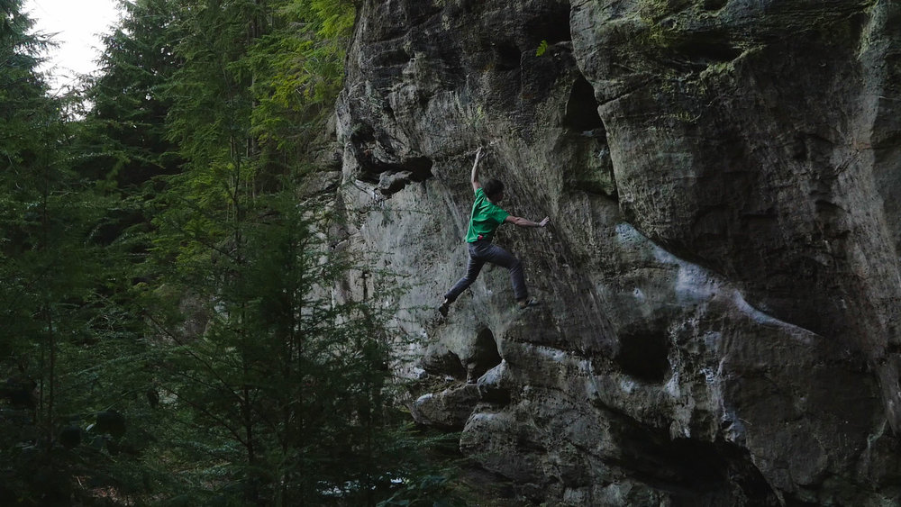 Dan Turner Monk Life (8B+) | PC: Unknown