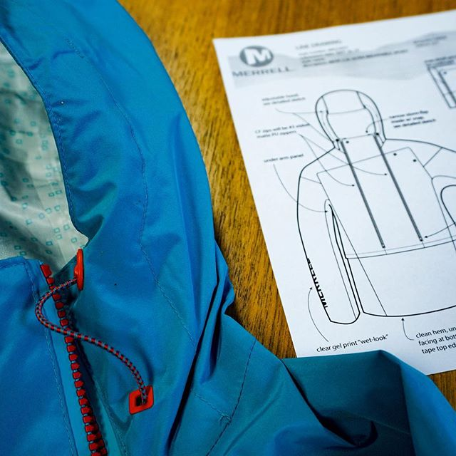 From inception to finished goods . Stay dry out there today. #productdesign #blurrteam . . . . . . . . . #blurrdesign #merrelloutside #productdevelopment #techapparel #squamishdesign #localdesigner #techdrawing #design #designedincanada #raincoat #running