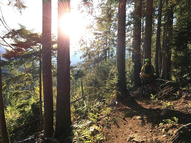 @danieljrubin soaking up some of the last rays of summer after work last week. At least the snow has started to fall in the mountains! #cakewalk #squamishbiketrails #blurrteam #winteriscoming .... . . . . . . . #mtbsquamish #squamishisawesome #squamish #squamishdesigner #blurrstuff #optoutside #worklifebalance #muddybikerides