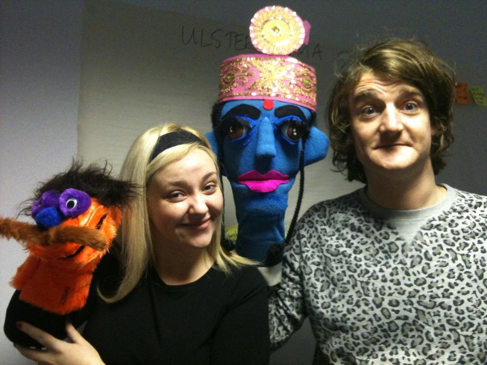 Caro&Neil w puppets UKS3.JPG