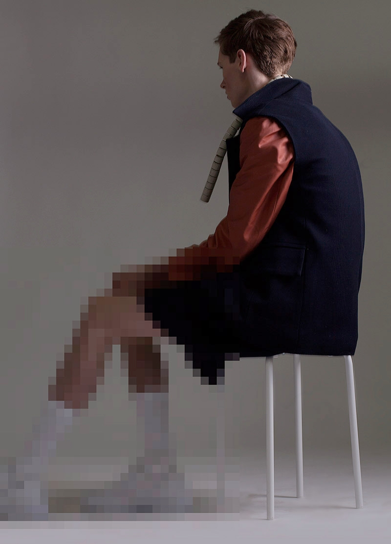 'Isolated Digital' for Fucking Young! Magazine  Styling  Raun Larose   Talent  Chris Davis   MU  Mark de los Reyes   Hair  Julia Kaneya