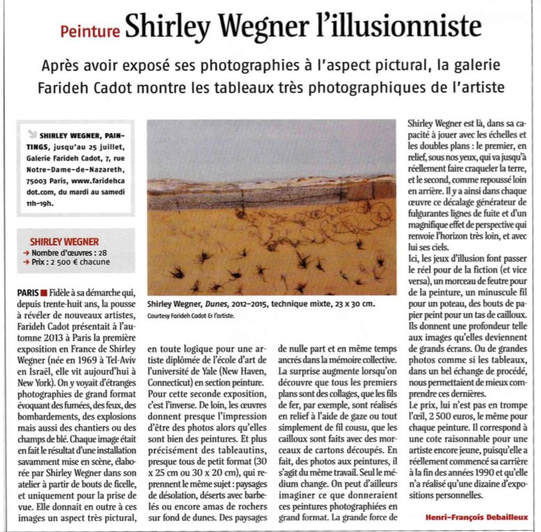 Henri Francois Debailfaux, Les Journal Des Arts, July 3, 2015