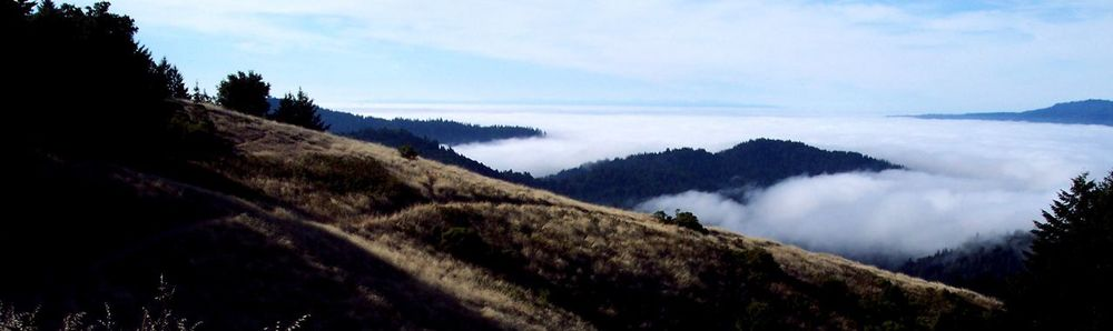 View of Monterey Bay from Sempervirens Point off Highway 9