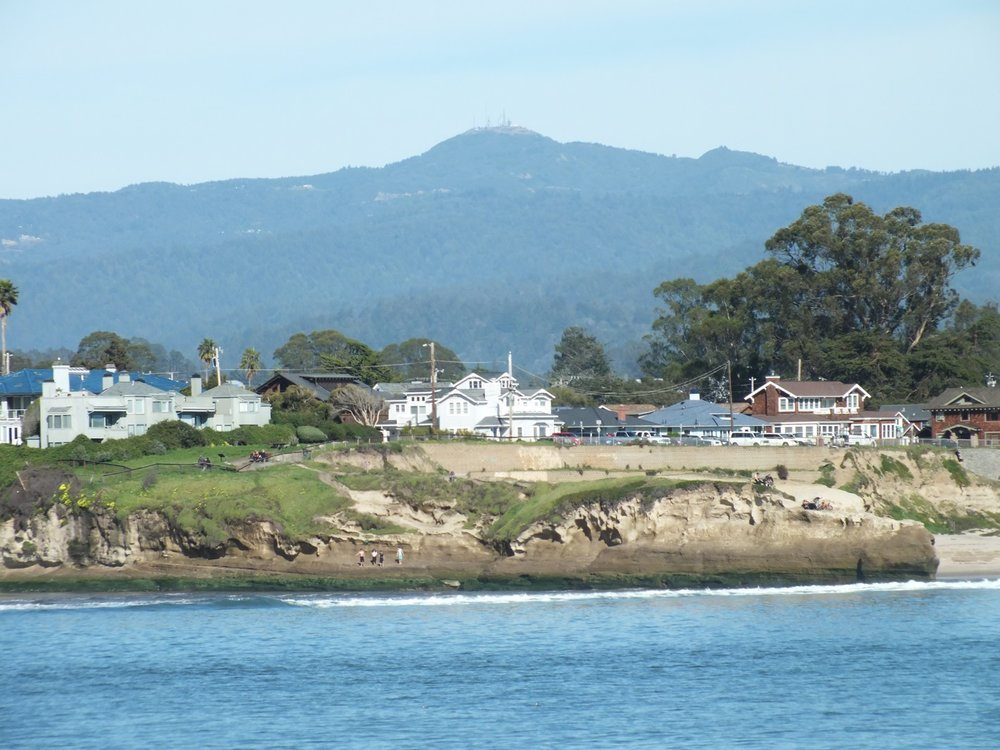 View of Santa Cruz Mountains/ Loma Prieta from San Lorenzo River mouth