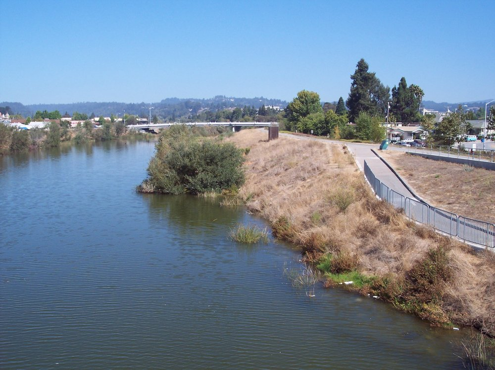Lower San Lorenzo River levies, Santa Cruz