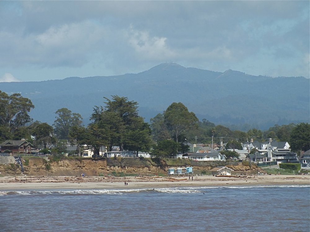 Loma Prieta from Seabright beach, Santa Cruz
