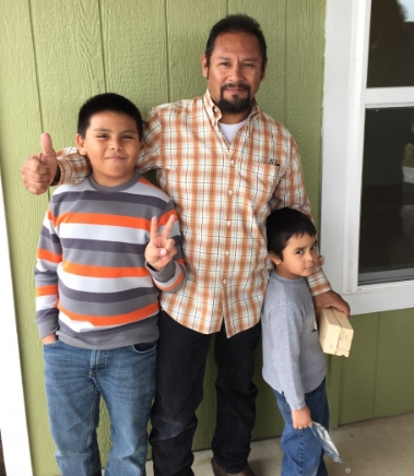 Mr. Huerta and his sons.