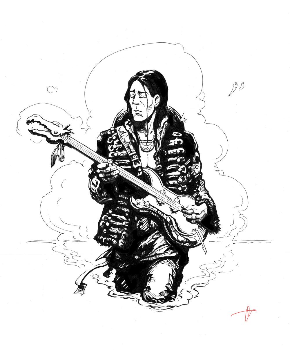 Mystical guitarist