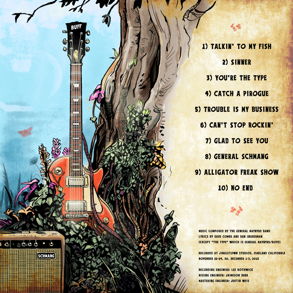 The rear cover for the band's debut album.