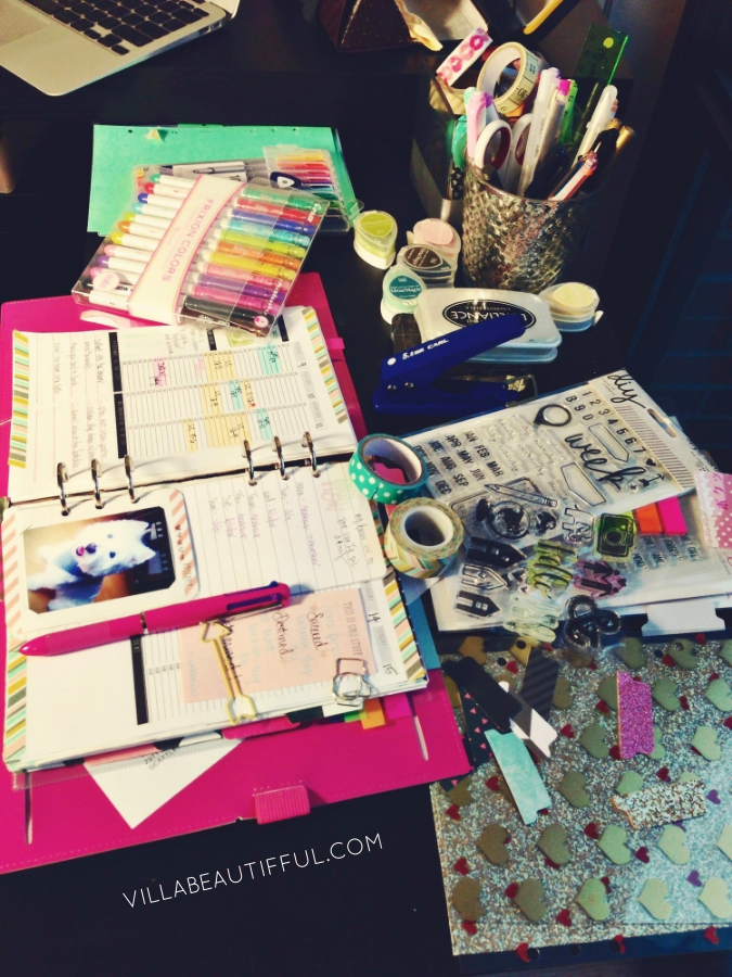 My dedicated Filofax designing workstation