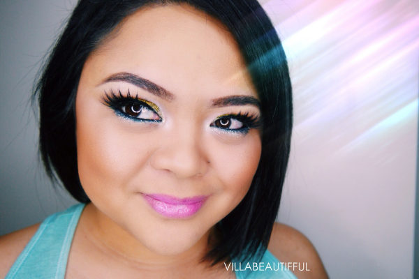 Colorful makeup with L.A. Girl Cosmetics