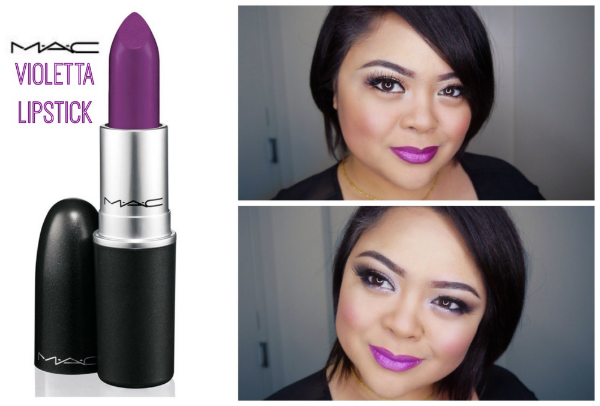 MAC Violetta Lipstick 2 Ways