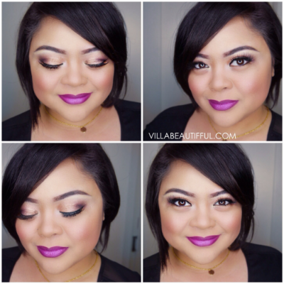 Violetta Lipstick with Golden Natural Eyes