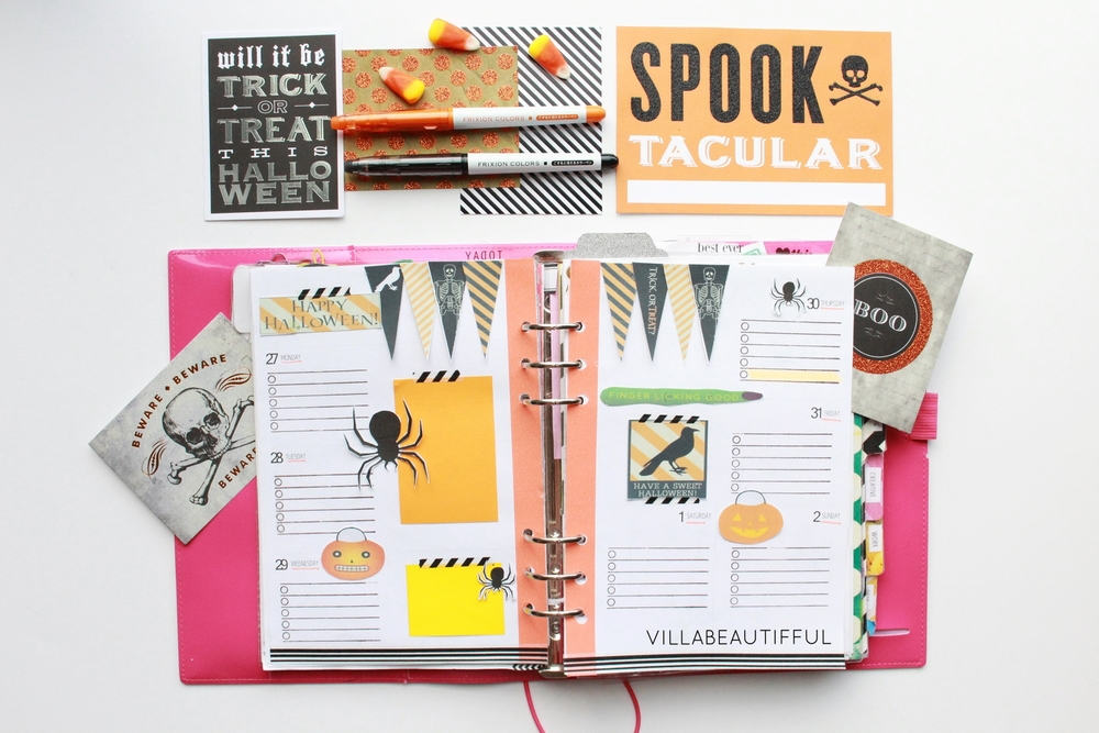 Filofax: How I decorate Wk 44
