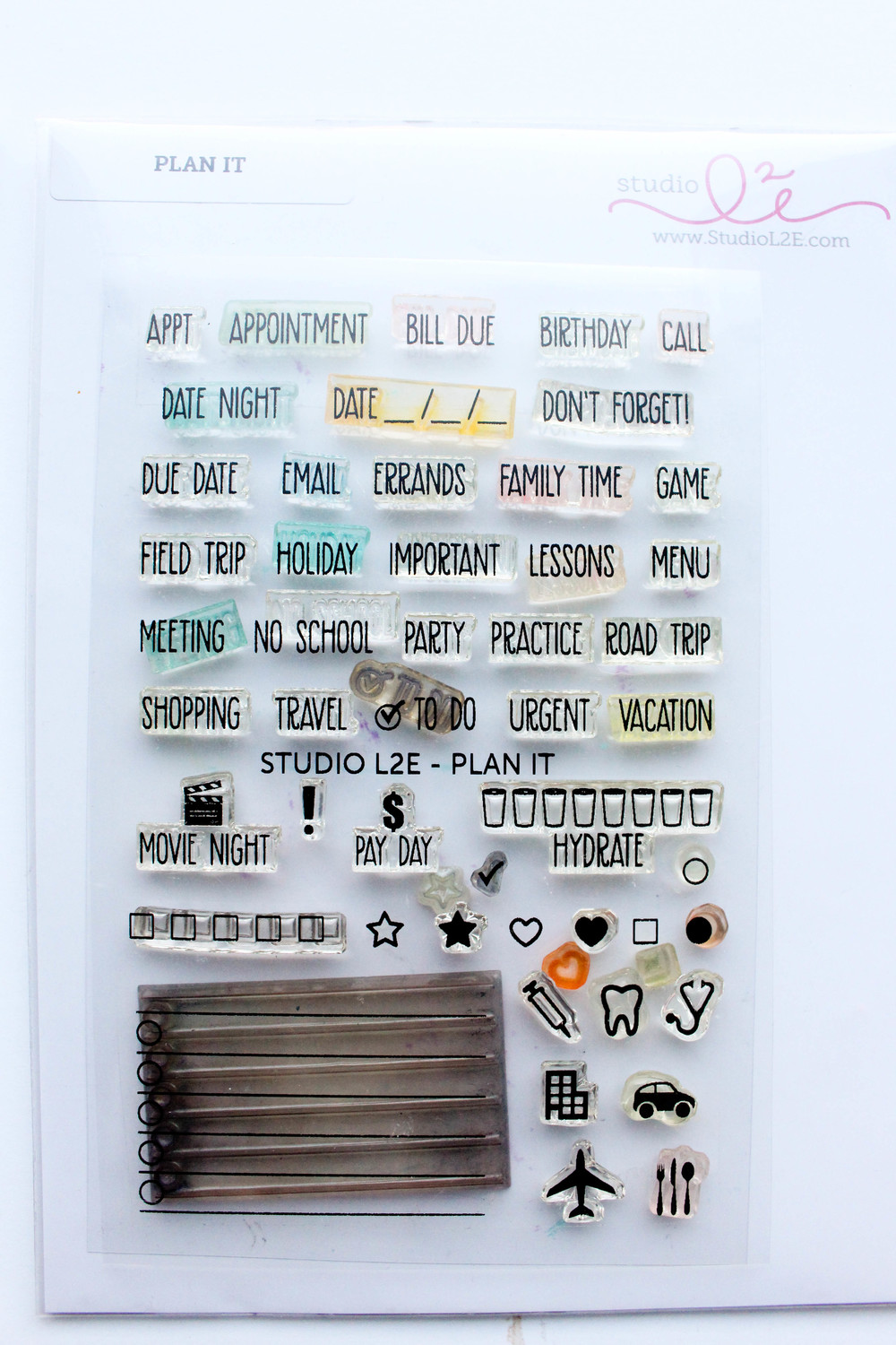 Studio L2E Plan It Stamp Set