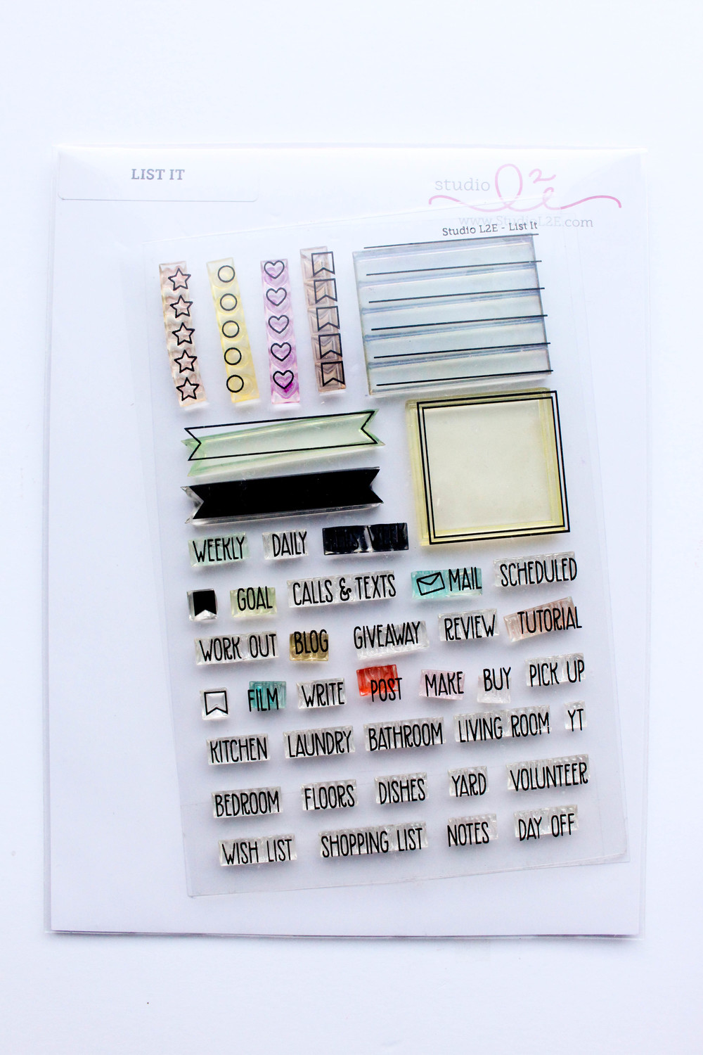 Studio L2E List It Stamp Set