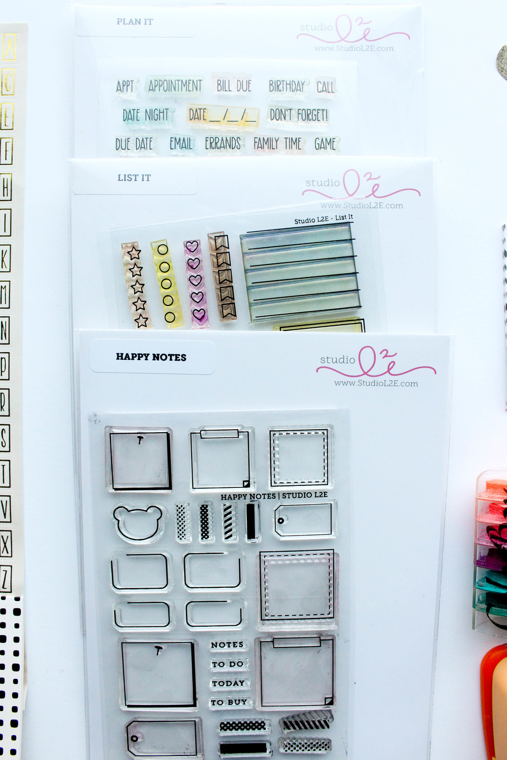Studio L2E Stamp Sets